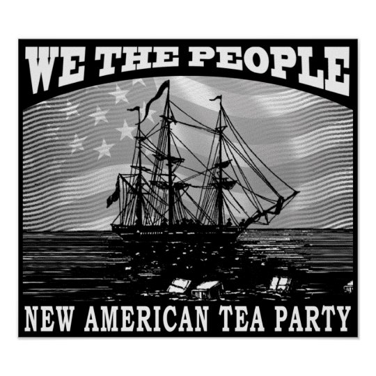 Tax Tea Party Poster