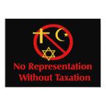 Tax The Churches 5x7 Paper Invitation Card