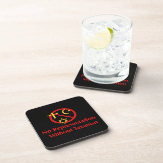 Tax The Churches Beverage Coaster
