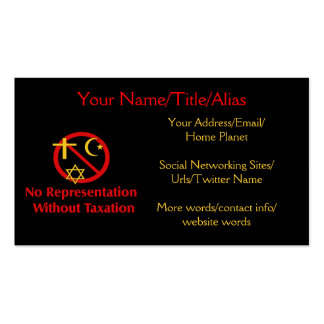 Tax The Churches Double-Sided Standard Business Cards (Pack Of 100)