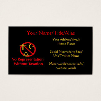 Tax The Churches Business Card