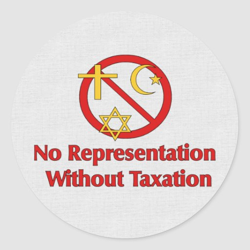 Tax The Churches Classic Round Sticker