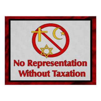 Tax The Churches Poster