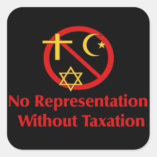 Tax The Churches Square Sticker