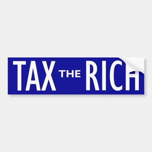 Tax the Rich Bumper Stickers