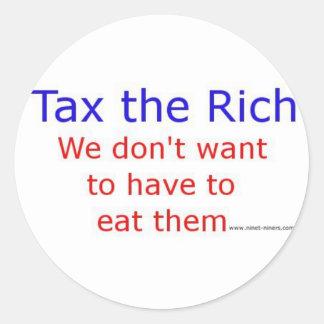 Tax the Rich Classic Round Sticker
