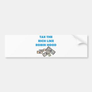 Tax The Rich Like Robin Hood - Occupy Wall Street Bumper Sticker