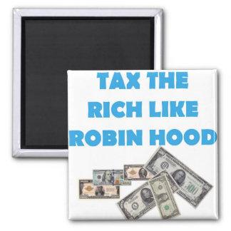 Tax The Rich Like Robin Hood - Occupy Wall Street Magnets