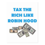 Tax The Rich Like Robin Hood - Occupy Wall Street Post Card