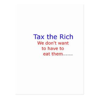 Tax the Rich Postcard
