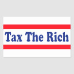 Tax the Rich! Rectangle Stickers