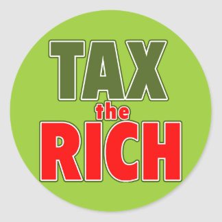 TAX THE RICH T-shirts, Stickers, Buttons