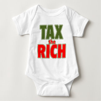 TAX THE RICH T-shirts, Stickers, Buttons Baby Bodysuit