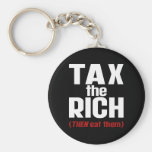 Tax The Rich THEN Eat Them Keychains