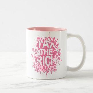 Tax the Rich Two-Tone Coffee Mug