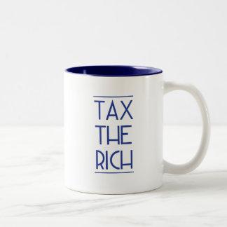 Tax The Rich! Two-Tone Coffee Mug