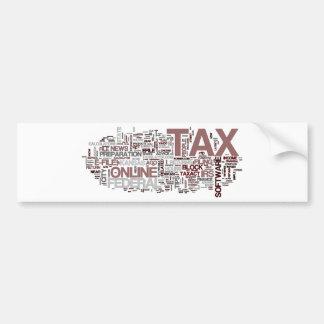 Tax time bumper sticker