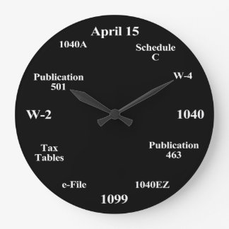 Tax Time Clock for Accountants Accounting Student