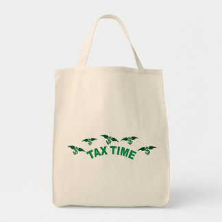 Tax Time Grocery Tote Bag