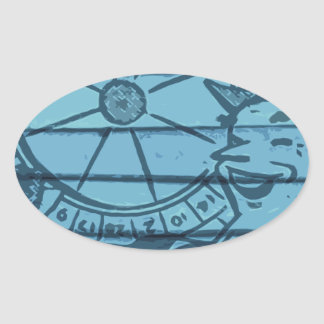 tax time oval sticker