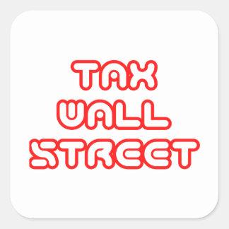 """""""Tax Wall Street"""" Sticker"""