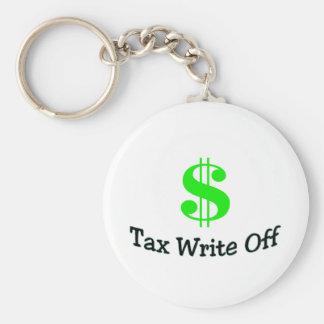 Tax Write Off Basic Round Button Keychain