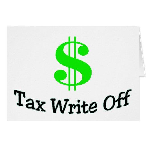 Tax Write Off Card