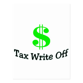 Tax Write Off Postcard