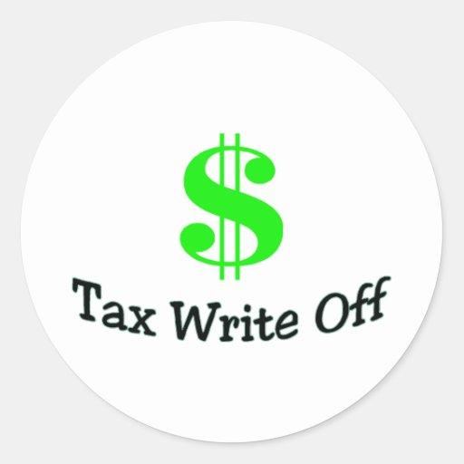 Tax Write Off Round Sticker