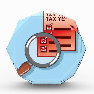 Tax Year Magnifying Glass Vector Zoom Acrylic Award