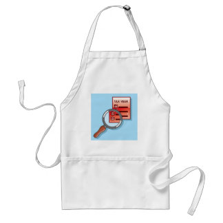 Tax Year Magnifying Glass Vector Zoom Adult Apron