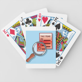 Tax Year Magnifying Glass Vector Zoom Bicycle Playing Cards