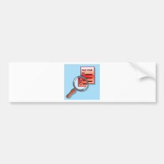 Tax Year Magnifying Glass Vector Zoom Bumper Sticker