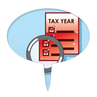 Tax Year Magnifying Glass Vector Zoom Cake Topper