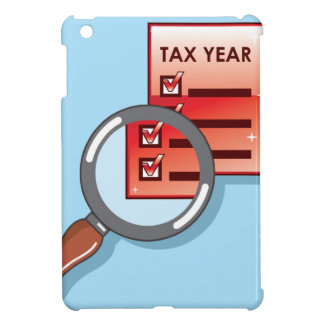 Tax Year Magnifying Glass Vector Zoom iPad Mini Cases