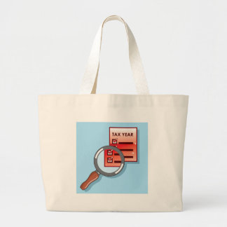 Tax Year Magnifying Glass Vector Zoom Large Tote Bag