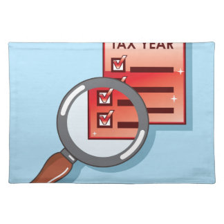 Tax Year Magnifying Glass Vector Zoom Placemat