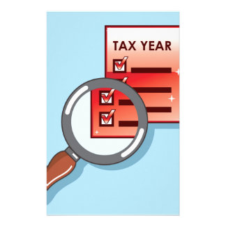 Tax Year Magnifying Glass Vector Zoom Stationery