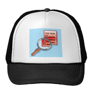 Tax Year Magnifying Glass Vector Zoom Trucker Hat