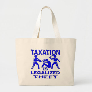 Taxation Is Legalized Theft Tote Bags