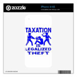 Taxation Is Legalized Theft Decals For The iPhone 4S