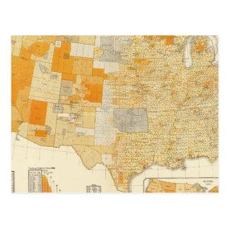 Taxation per capita, counties postcard