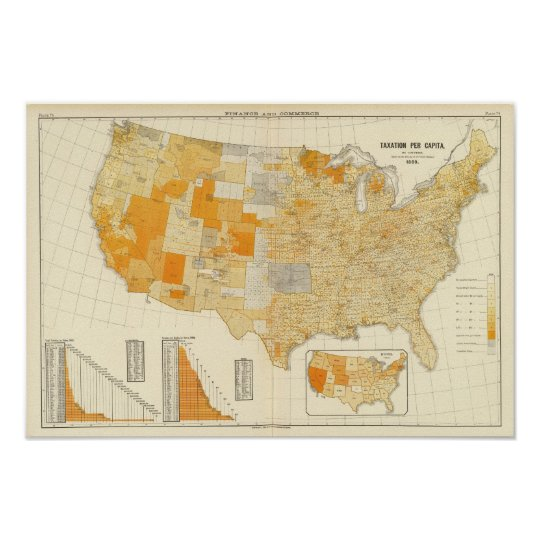 Taxation per capita, counties poster