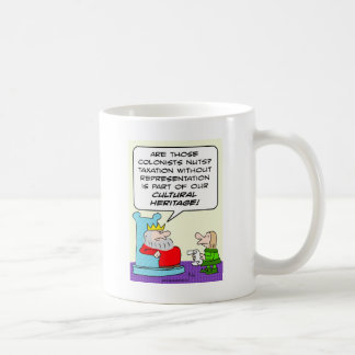 taxation without representation cultural heritage coffee mug