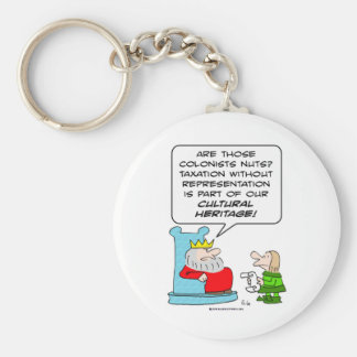 taxation without representation cultural heritage basic round button keychain