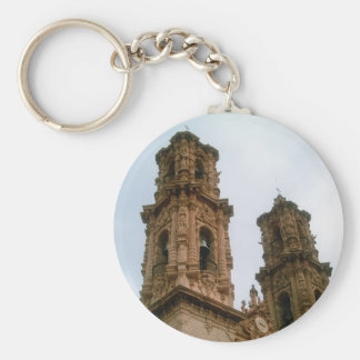 Taxco Cathedral Bell Towers Basic Round Button Keychain