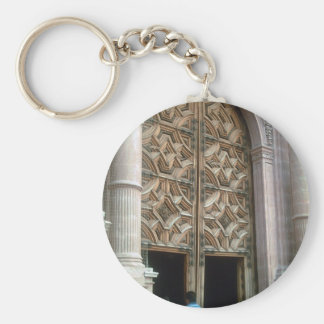 Taxco Cathedral Entrance Basic Round Button Keychain