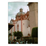 Taxco Cathedral side from zocalo Card