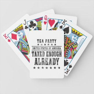 Taxed Enough Already Bicycle Playing Cards