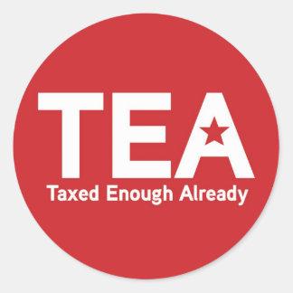 Taxed Enough Already Classic Round Sticker